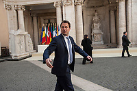 Rome, Italy, March 25,2017. Luxembourg's Prime Minister Xavier Bettelprior to a group photo in the Cortile di Michelangelo during an EU summit in Rome. European Union leaders were gathering in Rome to mark the 60th anniversary of their founding treaty and chart a way ahead following the decision of Britain to leave the 28-nation bloc.
