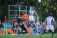 VOETBAL: LANGEZWAAG: Sportpark it Paradyske Langezwaag, 20-07-2013, Oefenwedstrijd SC Heerenveen - AA Gent, Einduitslag 1-1, Renato Neto (#10 | KAA Gent), Luciano Slagveer (#17 | SCH), ©foto Martin de Jong