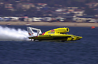 The U-8, Llumar, driver Jimmy King..Hydros-PROP Bayfair,San Diego,CA,USA 9.17.2000.©F.Peirce Williams 2000.