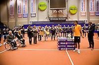 13-12-09, Rotterdam, Tennis, REAAL Tennis Masters 2009,  Robin Haase  bedankt het publiek