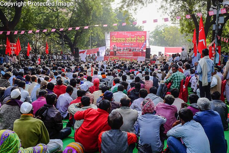 Farmers' demonstration, New Delhi