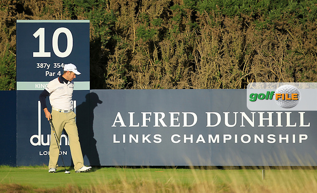 Lorenzo Gagli (ITA) during Round 1of the Alfred Dunhill Links Championship at Kingsbarns Golf Club on Thursday 26th September 2013.<br /> Picture:  Thos Caffrey / www.golffile.ie