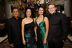 "From left: Dr. Suresh and Dr. Renu Khator with Dr. Parul Khator and Greg Cohen at the San Luis Salute ""Hollywood Dinner Club"" in Galveston Friday Feb. 09,2018. (Dave Rossman Photo)"