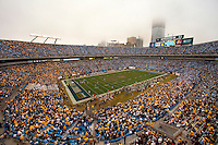 Wide angle view during the Meineke Car Care Bowl college football game at Bank of America Stadium in Charlotte, NC.