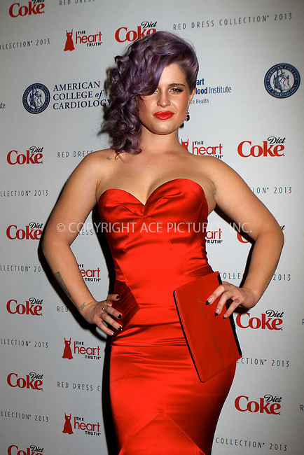 WWW.ACEPIXS.COM....February 6 2013, New York City....Kelly Osbourne arriving atThe Heart Truth's Red Dress Collection during Fall 2013 Mercedes-Benz Fashion Week at Hammerstein Ballroom on February 6, 2013 in New York City. ......By Line: Nancy Rivera/ACE Pictures......ACE Pictures, Inc...tel: 646 769 0430..Email: info@acepixs.com..www.acepixs.com
