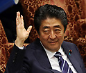 Prime minister Abe responds to opposition lawmaker at Upper House's budget committee session
