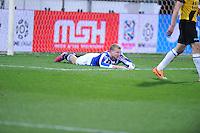 VOETBAL: HEERENVEEN: Abe Lenstra Stadion 04-04-2015, SC Heerenveen - NAC, uitslag 0-0, Henk Veerman (#20) na gemiste kans, ©foto Martin de Jong