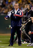 New England Revolution head coach Steve Nicol. The LA Galaxy defeated the New England Revolution 1-0 at Home Depot Center stadium in Carson, California on Saturday evening March 27, 2010.  .