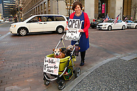 The 'Take Back Control' rally in protest of Governor Wolf's stay-at-home order takes place outside of the City-County building in downtown on Monday April 20, 2020 in Pittsburgh, Pennsylvania. (Photo by Jared Wickerham/Pittsburgh City Paper)