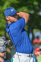 Jordan Smith (ENG) watches his tee shot on 12 during 1st round of the 100th PGA Championship at Bellerive Country Cllub, St. Louis, Missouri. 8/9/2018.<br /> Picture: Golffile | Ken Murray<br /> <br /> All photo usage must carry mandatory copyright credit (© Golffile | Ken Murray)