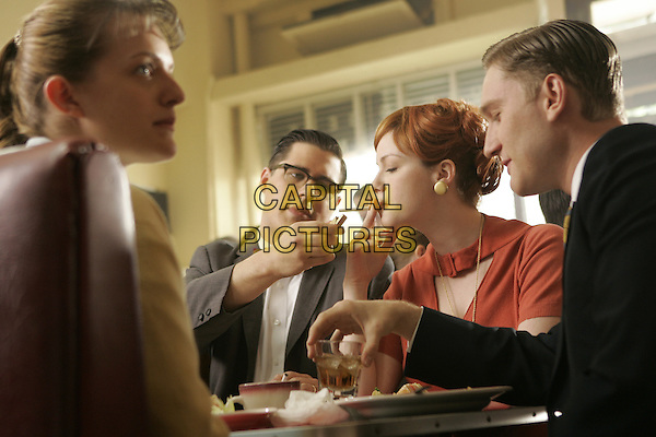 ELISABETH MOSS, RICH SOMMER, CHRISTINA HENDRICKS, AARON STATON<br /> in Mad Men (Season 1)<br /> *Filmstill - Editorial Use Only*<br /> CAP/FB<br /> Image supplied by Capital Pictures