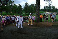Thorbjorn Olesen (DEN) in the rough on the 17th during the 2nd round at the The Masters , Augusta National, Augusta, Georgia, USA. 12/04/2019.<br /> Picture Fran Caffrey / Golffile.ie<br /> <br /> All photo usage must carry mandatory copyright credit (© Golffile | Fran Caffrey)