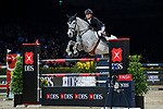 Jérôme Guery of Belgium riding Papillon Z competes in the Masters One DBS during the Longines Masters of Hong Kong at AsiaWorld-Expo on 11 February 2018, in Hong Kong, Hong Kong. Photo by Diego Gonzalez / Power Sport Images