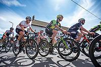 Picture by Allan McKenzie/SWpix.com - 16/07/17 - Cycling - HSBC UK British Cycling Grand Prix Series - Velo29 Altura Stockton Grand Prix - Stockton, England - The peloton passes through Carlton village.