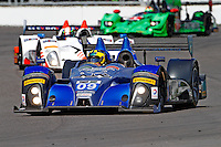 A pack of cars in action, Brickyard Grand Prix, Indianapolis Motor Speedway, Indianapolis, Indiana, July 2014.  (Photo by Brian Cleary/www.bcpix.com)