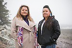 Geraldine Flurer and Jasmine Thomas from the Yinka Dene Alliance at the End of the Line March.  On May 30, 2015, over 500 Canadian citizens and First Nations marched in Red Head, Saint John, at the End of the Line for the proposed Energy East pipeline. The people were protesting the proposed mega pipeline and the tank terminal that would destroy and the Red Head community and endanger the Bay of Fundy. If approved, TransCanada's Energy East pipeline would travel 4600km from Alberta to Saint John, New Brunswick, shipping 1.1 million barrels of crude oil and bitumen for export through the Bay of Fundy, a critical habit for Right whales and home to thousands of jobs in Tourism and Fishing.