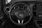 Car pictures of steering wheel view of a 2019 Mercedes Benz Metris Base 5 Door Combi