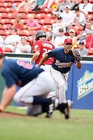 July 20th 2008:  Barbaro Canizares of the Richmond Braves, Class-AAA affiliate of the Atlanta Braves, during a game at Dunn Tire Park in Buffalo, NY.  Photo by:  Mike Janes/Four Seam Images