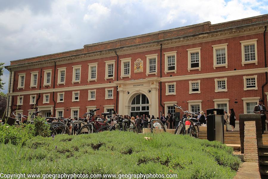 People at graduation ceremony, Goldsmiths college building, University of London, England, UK