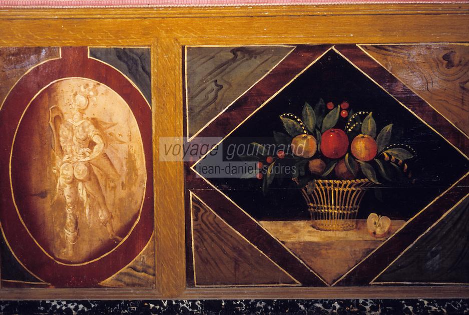 Europe/France/Auverne/63/Puy-de-Dôme/Effiat: Le château d'Effiat - Le grand salon - détail des boiseries peintes