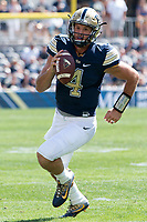 Pitt quarterback Nate Peterman. The Pitt Panthers defeated the Villanova Wildcats 28-7 at Heinz Field, Pittsburgh, Pennsylvania on September 3, 2016.