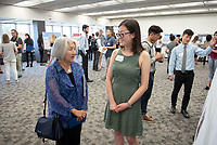 """Probing Cytochrome P450 Biocatalysis via Anaerobic Redox Titrations"" by Crystal Liang<br /> (Mentor: Andrew Udit, Chemistry)<br /> Occidental College's Undergraduate Research Center hosts their annual Summer Research Conference, Aug. 1, 2018. Student researchers presented their work as either oral or poster presentations at the final conference. The program lasts 10 weeks and involves independent research in all departments.<br /> (Photo by Marc Campos, Occidental College Photographer)"