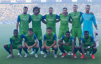 Carson, CA - Saturday July 29, 2017: Seattle Sounders FC starting eleven during a Major League Soccer (MLS) game between the Los Angeles Galaxy and the Seattle Sounders FC at StubHub Center.