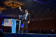 March 14, 2013  (National Harbor, Maryland)  Louisiana Governor Bobby Jindal waves after addressing attendees of the 2013 Conservative Political Action Conference (CPAC) in National Harbor, MD.  (Photo by Don Baxter/Media Images International)