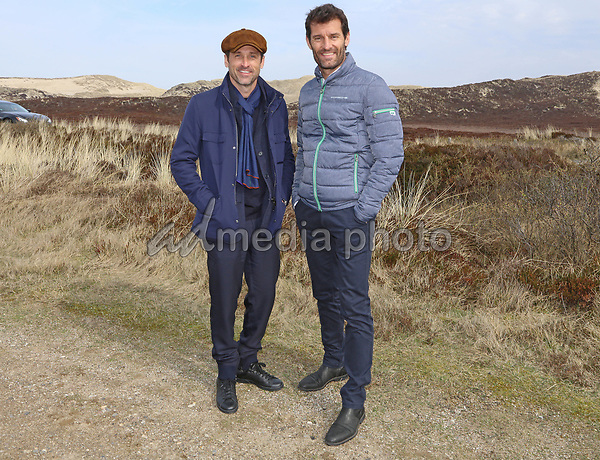 01 April 2017 - Sylt, Germany - Patrick Dempsey, Mark Webber. Opening of Porsche branch on North German island Sylt. Photo Credit: Syltpress Barth/face to face/AdMedia