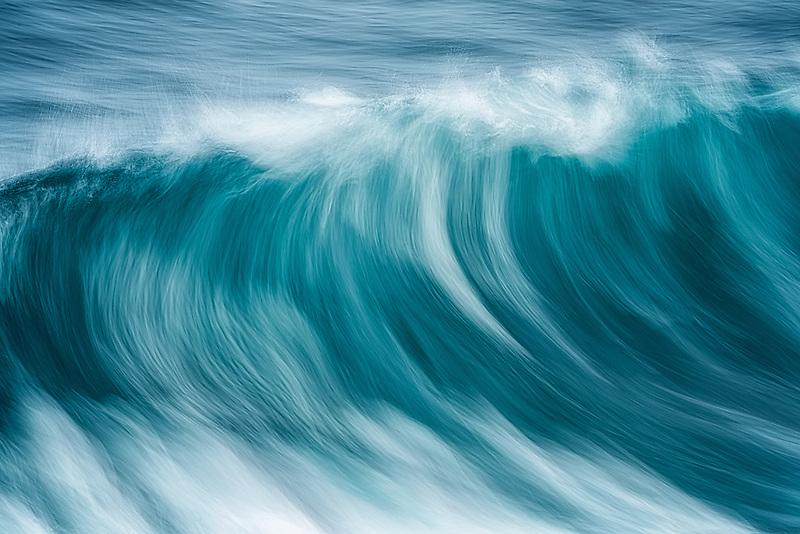 Waves off Hawaii.