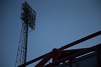 A shadowy Floodlight at the city ground during the Sky Bet Championship match between Nottingham Forest and Millwall at the City Ground, Nottingham, England on 4 August 2017. Photo by James Williamson / PRiME Media Images.