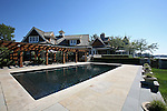 The pool and patio at the home of Pete and Judi Dawkins in Rumson, New Jersey. CREDIT: Bill Denver for the Wall Street Journal..NYHODRUMSON