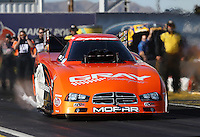 Feb. 22, 2013; Chandler, AZ, USA; NHRA funny car driver Johnny Gray during qualifying for the Arizona Nationals at Firebird International Raceway. Mandatory Credit: Mark J. Rebilas-