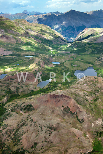 Mountain lakes, Hinsdale County, Gunnison National Forest, Colorado.  Near Niagra Peak.  July 2013. 80425