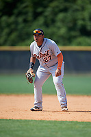 Detroit Tigers Jose Quero (27) during a Minor League Spring Training game against the New York Yankees on March 21, 2018 at the New York Yankees Minor League Complex in Tampa, Florida.  (Mike Janes/Four Seam Images)