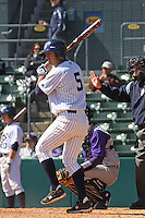Brian Hernandez of the University of California at Irvine at the plate in a game against James Madison University at the Baseball at the Beach Tournament held at BB&T Coastal Field in Myrtle Beach, SC on February 28, 2010.