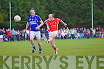 Christopher O'Riordan Laune Rangers v Derry Ahern East Kerry in the first round of the Garveys Supervalu Kerry county football championship at Beaufort on Saturday evening.