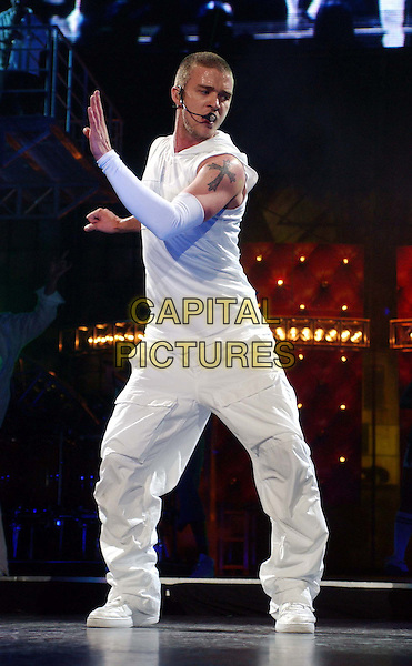 Singer JUSTIN TIMBERLAKE.joins Christina Aguilera for combined Justified - Stripped Concert Tour.www.capitalpictures.com.sales@capitalpictures.com.©Capital Pictures.music, live