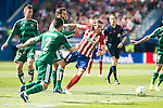 Atletico de Madrid's Filipe Luis and Real Betis's Fabian and Molinero during BBVA La Liga match. April 02,2016. (ALTERPHOTOS/Borja B.Hojas)