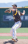 Galena pitcher Zach Williams throws in the NIAA Division I Northern Region Baseball Championship between the Galena Grizzlies and the Reno Huskies played on Saturday, May 14, 2016 at Peccole Park in Reno, Nevada.