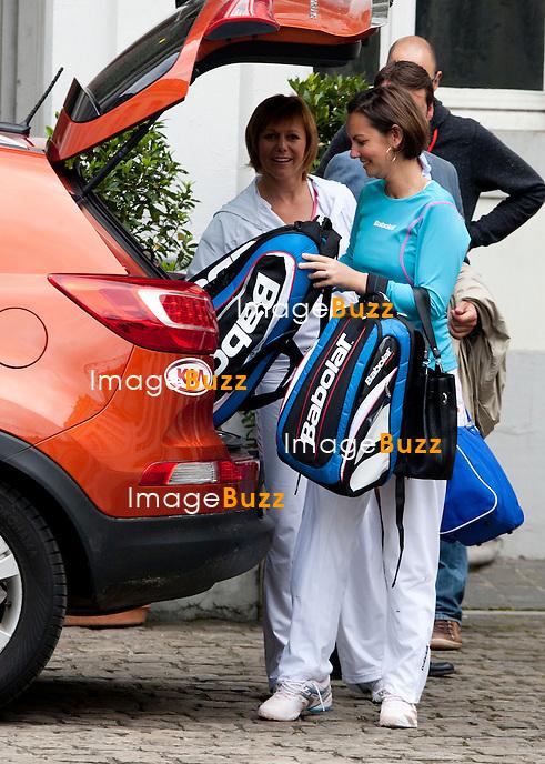 """Sabine Appelmans et Dominique Monami - Sixième Edition de la """" Legends Cup """", à Namur en Belgique..Belgique, Namur, 15/16 juin 2012..."""