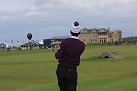 Victor Perez (FRA) on the 18th tee during Round 4 of the Alfred Dunhill Links Championship 2019 at St. Andrews Golf CLub, Fife, Scotland. 29/09/2019.<br /> Picture Thos Caffrey / Golffile.ie<br /> <br /> All photo usage must carry mandatory copyright credit (© Golffile | Thos Caffrey)
