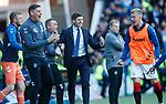 12.05.2019 Rangers v Celtic: Steven Gerrard celebrates