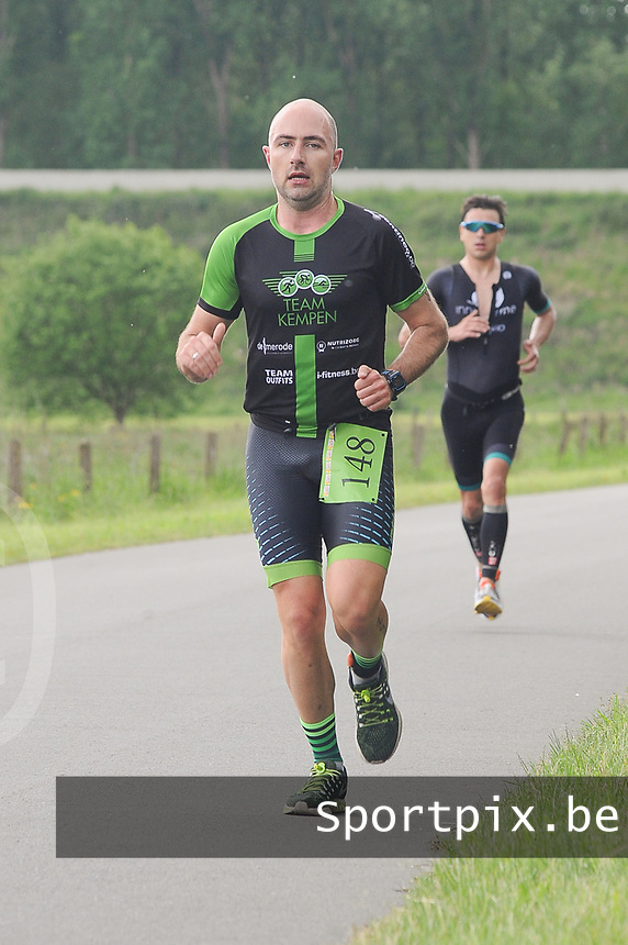20170514 GEEL : Kwart Triathlon  -  1/4 Triathlon<br /> Loopproef<br /> <br /> <br /> PHOTO SPORTPIX.BE / DIRK VUYLSTEKE