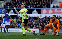 Sheffield United's Billy Sharp frustrated in missing  the goal<br /> <br /> Photographer Hannah Fountain/CameraSport<br /> <br /> The EFL Sky Bet Championship - Ipswich Town v Sheffield United - Saturday 22nd December 2018 - Portman Road - Ipswich<br /> <br /> World Copyright © 2018 CameraSport. All rights reserved. 43 Linden Ave. Countesthorpe. Leicester. England. LE8 5PG - Tel: +44 (0) 116 277 4147 - admin@camerasport.com - www.camerasport.com
