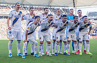 CARSON, CA - SEPTEMBER 29: Los Angeles Galaxy starting eleven during a game between Vancouver Whitecaps and Los Angeles Galaxy at Dignity Health Sports Park on September 29, 2019 in Carson, California.