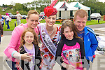 The Roses on a visit to Tralee Bay Wetlands during the Rose of Tralee Festival on Friday pictured are Siobhan, Lana, Amy O'Connell and Kevin Collum Tralee with Kerry Rose Gemma Kavanagh.