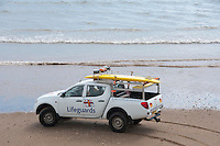 Lifeguard vehicle, Filey, North Yorkshire.