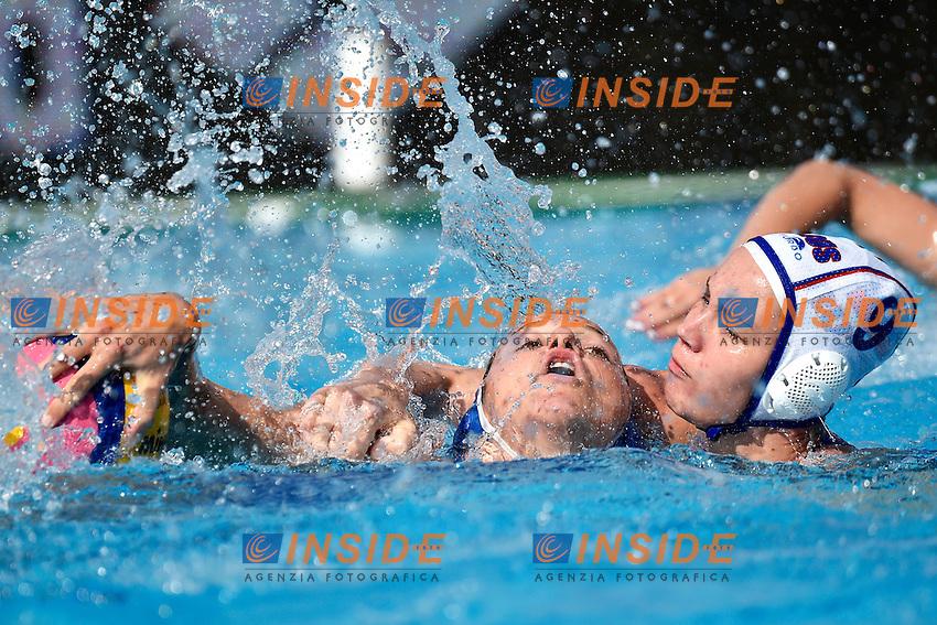 FRASSINETTI Teresa Italia, ABDRIZIAKOVA Evgeniia Russia <br /> Italy - Russia / Italia - Russia <br /> LEN European Water Polo Championships 2014<br /> Alfred Hajos Swimming Complex<br /> Margitsziget - Margaret Island<br /> Day05 Women - July 18 <br /> Photo A.Staccioli/Insidefoto/