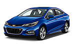 2018 Chevrolet Cruze Premier 4 Door Sedan Angular Front stock photos of front three quarter view